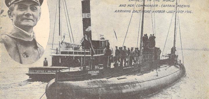 Deutschland (U-155). / Zdjęcie: Voyage of the Deutschland, the first merchant submarine. By Captain Paul König. - New York: Hearst's International Library Co., 1916