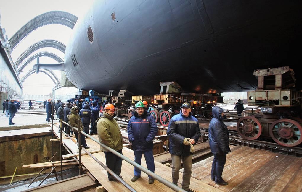 Rosyjski atomowy okręt podwodny 955A Borei-A Knyaz Oleg wszed do służby w Marynarce Wojennej Rosji. / Zdjęcie: Alexei Lipnitsky / TASS