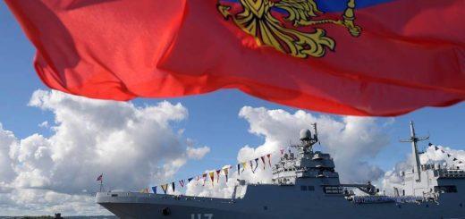 Obchody święta Marynarki Wojennej Rosji (lipiec 2020). / Zdjęcie: Alexei Druzhinin / Biuro prasowe i informacyjne prezydenta Rosji / TASS