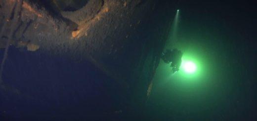 Widok wraku niemieckiego okrętu podwodnego U-649. / Zdjęcie: Zygfryd Kwiatkowski