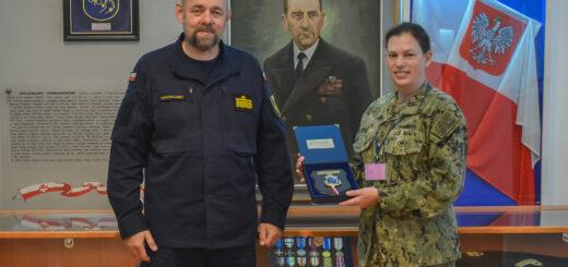 Morski Attache Obrony Stanów Zjednoczonych Komandor Matthew Zublic. / Zdjęcie. kpt. mar. Anna Sech/3.FO