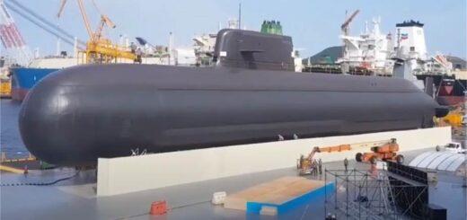 Nowy południowokoreański szturmowy okręt podwodny klasy Jang Bogo-III z silnikiem Diesla. / Zdjęcie: Marynarka Wojenna Korei Południowej