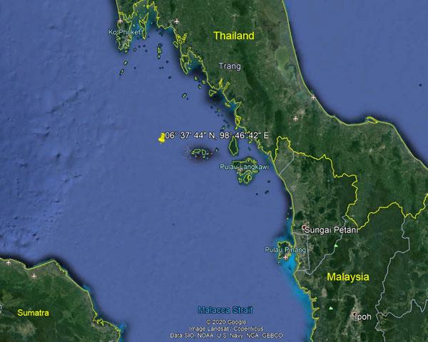 Miejsce zatonięcia USS Grenadier. / Zdjęcie: http://www.oneternalpatrol.com