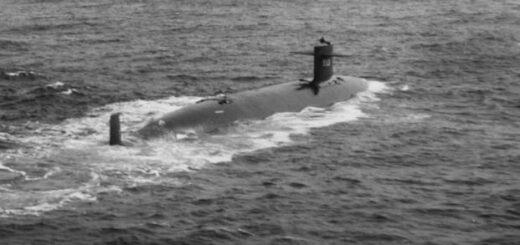 USS Thresher - zdjęcie wykonane podczas rejsu 30 kwietnia 1961 r. / Zdjęcie :US Navy / JL Snell