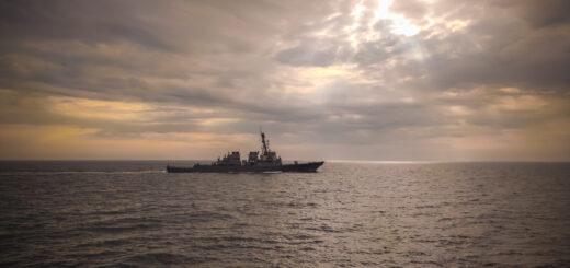 Niszczyciel USS Ross. / Zdjęcie: ppor. mar. Szymon Leszczyński/3.FO