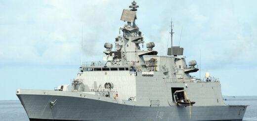 Okręt wojenny INS Saptura (Typ Shivalik - Projekt 17). / Zdjęcie: Marynarka Wojenna Indii