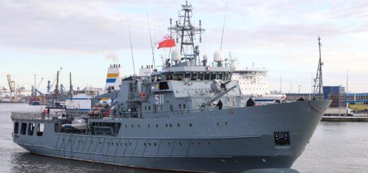 ORP Kontradmirał X. Czernicki. / Zdjęcie: wojsko-polskie.pl