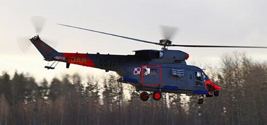 Lotnicy SAR z BLMW wezwani do poszukiwań w rejonie Krynicy Morskiej. / Zdjęcie: kmdr ppor. Marcin Braszak