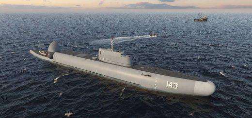 Projekt podwodnego okrętu patrolowego Strazh. / Zdjęcie: Rubin Design Bureau / TASS.