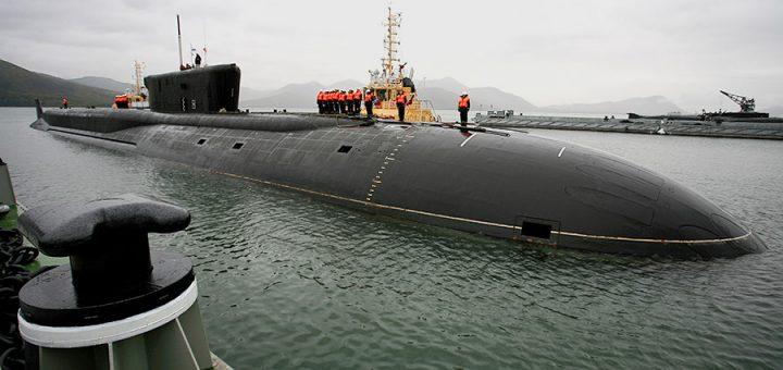 Atomowy okręt podwodny Alexander Nevsky - Okręt w macierzystej bazie w Wiluczyńsku. / Zdjęcie: Ministry of Defence of the Russian Federation