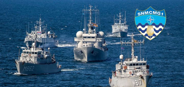 Okręty Stałego Zespołu Sił Obrony Przeciwminowej NATO Grupa 1 (ang. SNMCMG-1). / Zdjęcie: Marynarka Wojenna RP