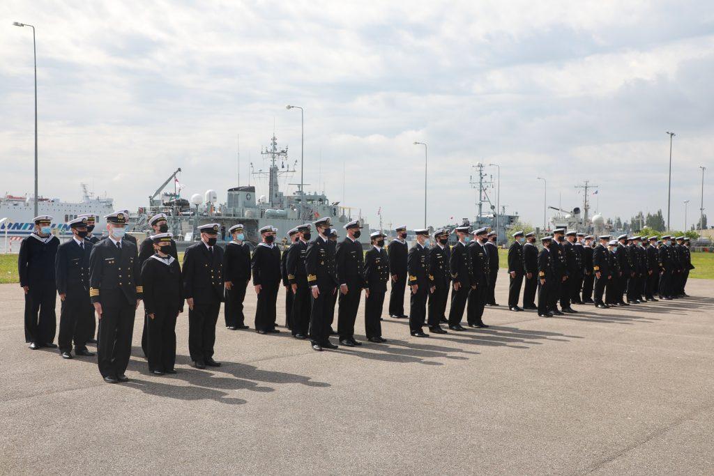 56. rocznica utworzenia 12. Wolińskiego Dywizjonu Trałowców. / Zdjęcie Marynarka Wojenna RP