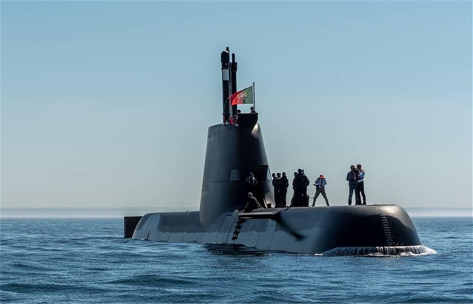 Okręt podwodny o napędzie dieslowo-elektrycznym NRP Tridente Portugalskiej Marynarki Wojennej.  / Zdjęcie: Portugalska Marynarka Wojenna