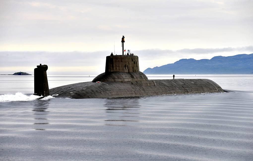 Ciężki podwodny krążownik o napędzie atomowym Dmitry Donskoi. / Zdjęcie: Lew Fedosejew/TASSowy