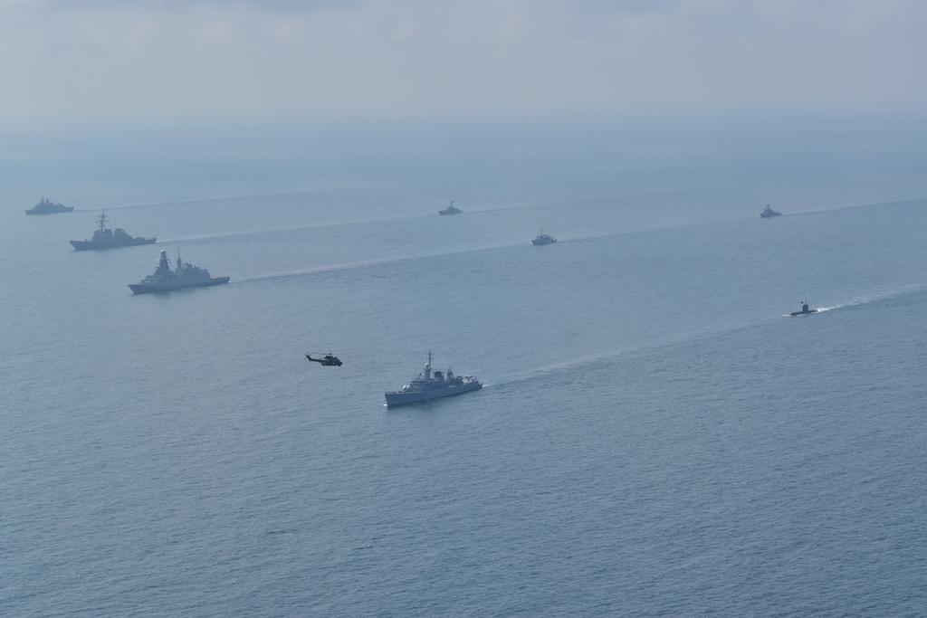 Okręty uczestniczące w ćwiczeniach pk. Breeze 2021 w Bułgarii. / Zdjęcie: www.navy.mod.bg