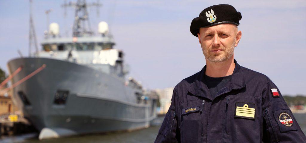 Komandor Jacek Rudziński. / Zdjęcie: Marynarka Wojenna RP