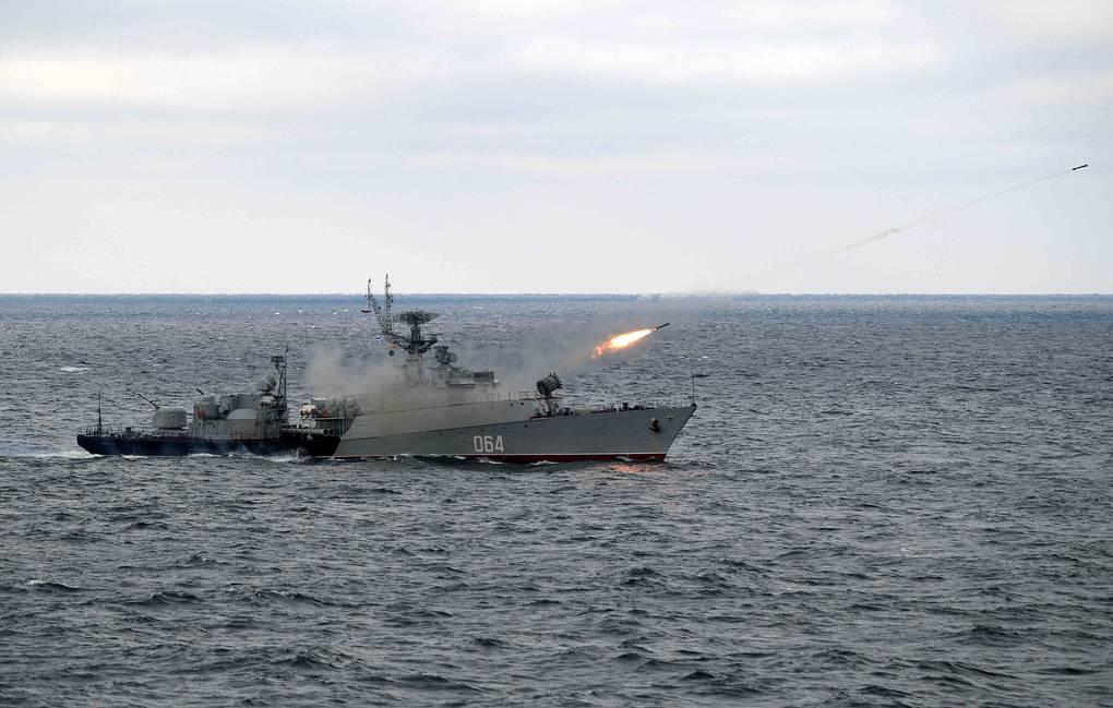 Okręt ZOP Yeisk. / Zdjęcie: Aleksiej Druzhinin/Biuro Prasy i Informacji Prezydenta Rosji/TASS