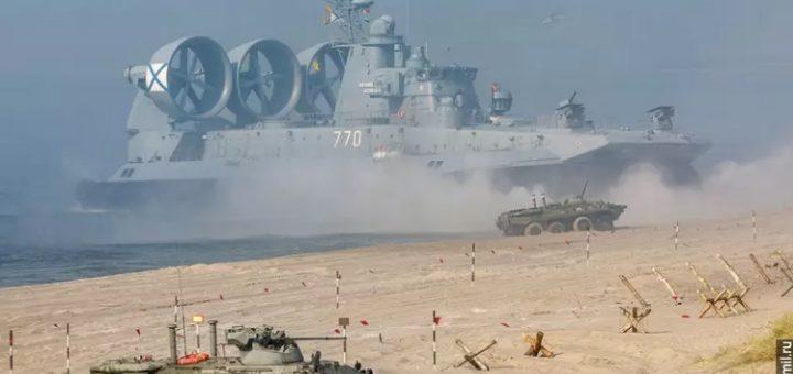 Największy poduszkowiec świata typu ŻUBR na ćwiczeniach Zapad-21. / Zdjęcie: mil.ru